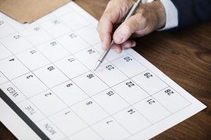 calendrier des contenus